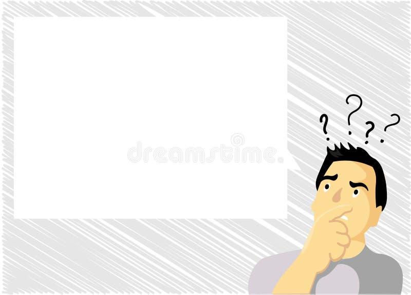 El texto vacío del espacio de la copia de la plantilla del diseño del negocio del vector del concepto plano del ejemplo para el s stock de ilustración