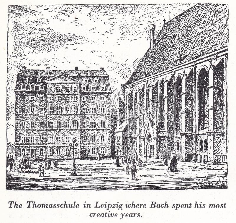 El Thomasschule en Leipzig, donde Bach pasó sus años más creativos del siglo XVIII y XIX foto de archivo