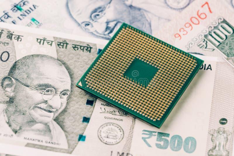 El TIC, negocio de la tecnología de la información que se mueve o externaliza a la India foto de archivo