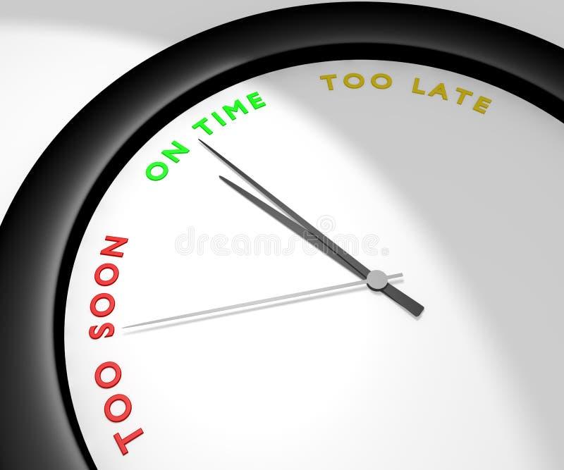 El tiempo ilustración del vector