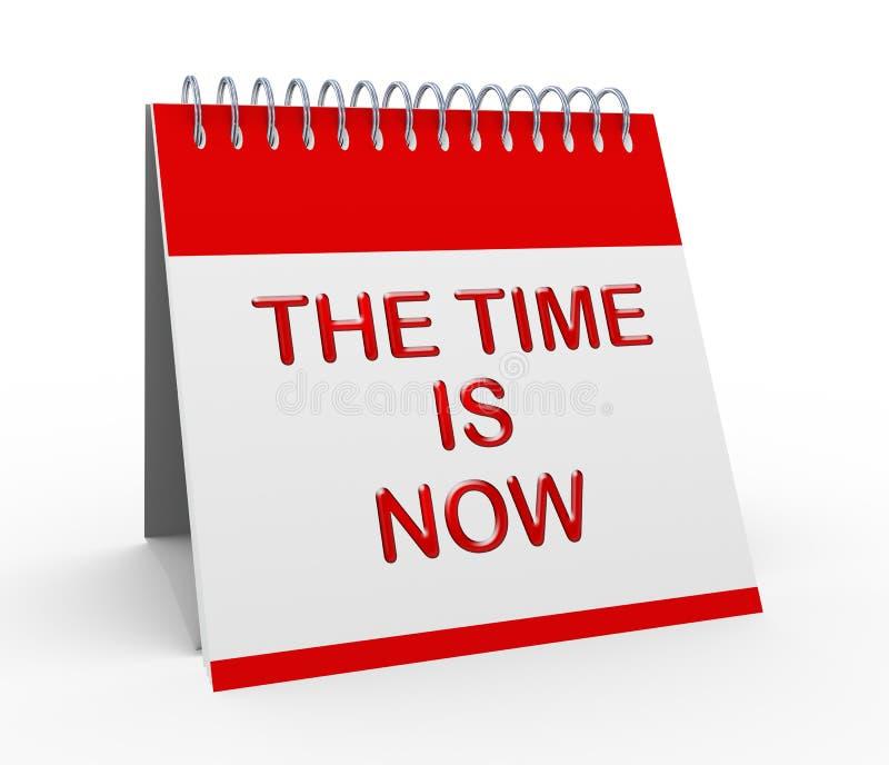 el tiempo 3d ahora es calendario libre illustration