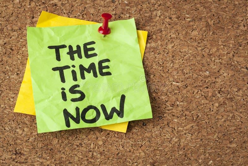El tiempo ahora está fotografía de archivo