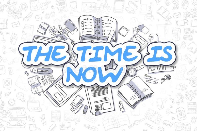 El tiempo ahora está Concepto del asunto stock de ilustración