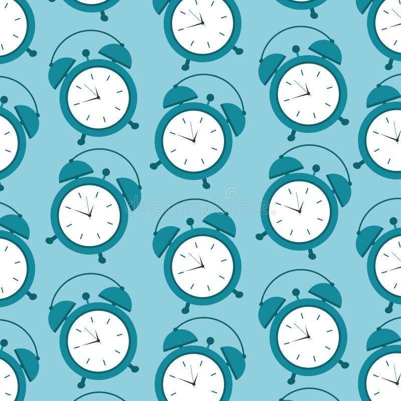 El tiempo de la alarma del reloj del modelo despierta símbolo stock de ilustración