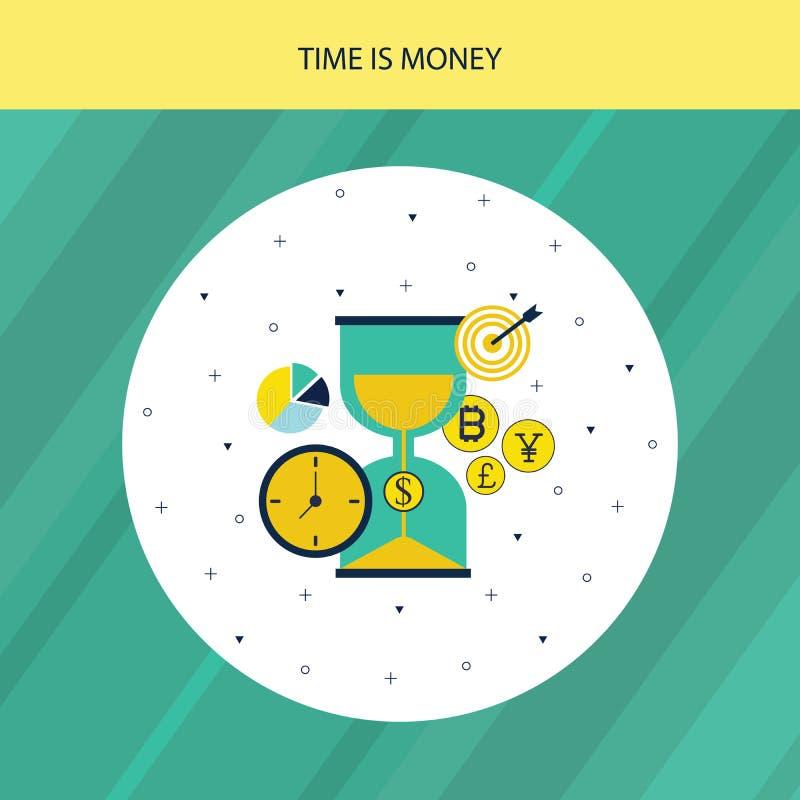 El tiempo es la ilustración de las acciones de Money ilustración del vector