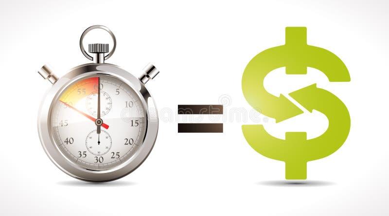 El tiempo es oro - economía libre illustration