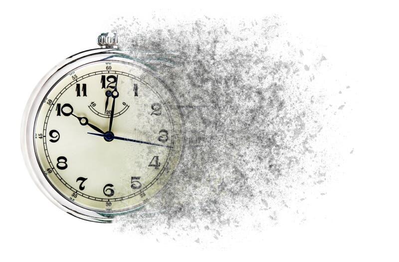 El tiempo está corriendo hacia fuera demostraciones del concepto registra que está disolviendo lejos imágenes de archivo libres de regalías