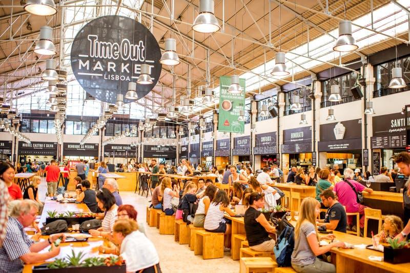 El tiempo hacia fuera comercializa en Lisboa fotografía de archivo libre de regalías