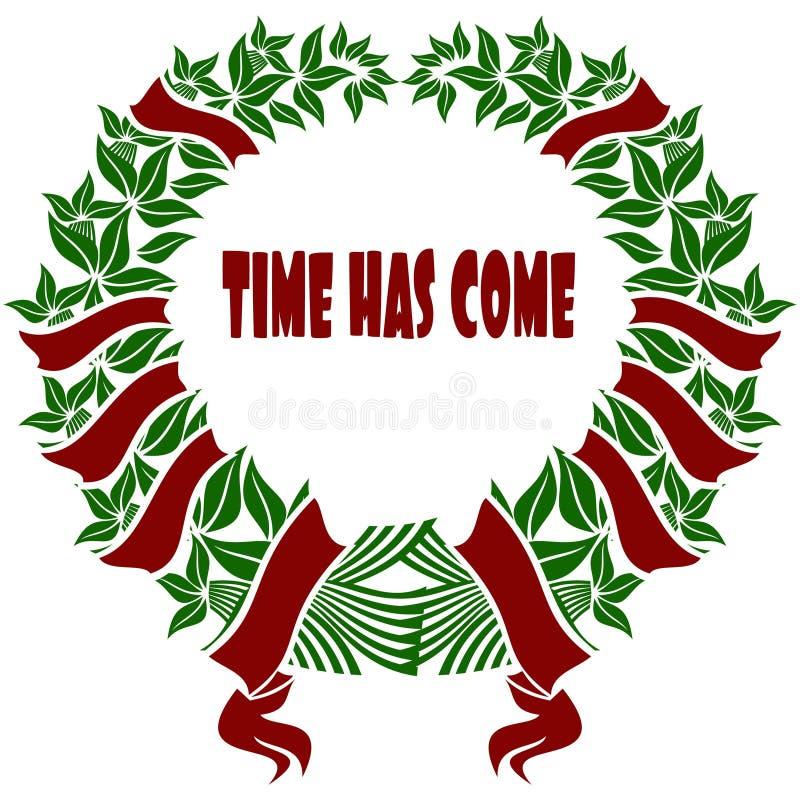 El TIEMPO TIENE corona roja y verde VENIDA de la flor libre illustration