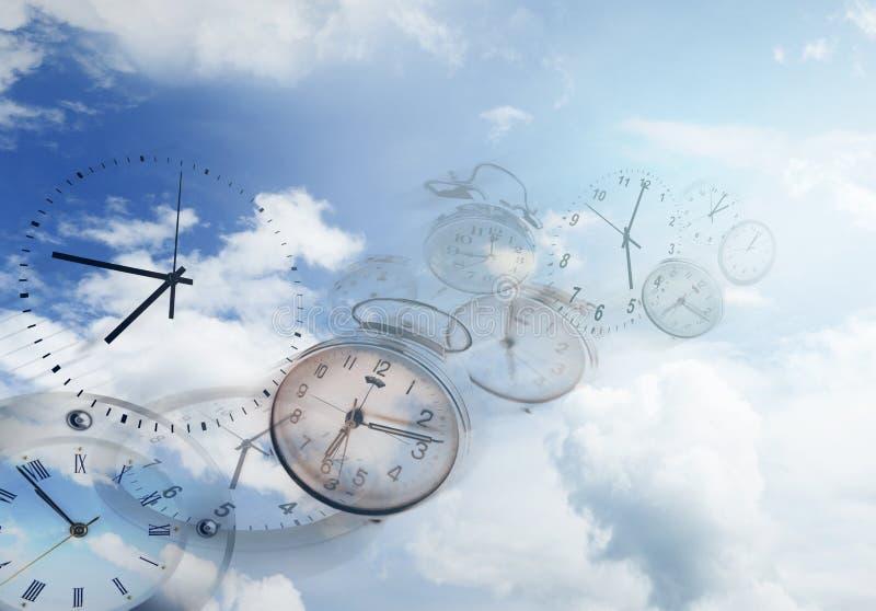 El tiempo vuela foto de archivo