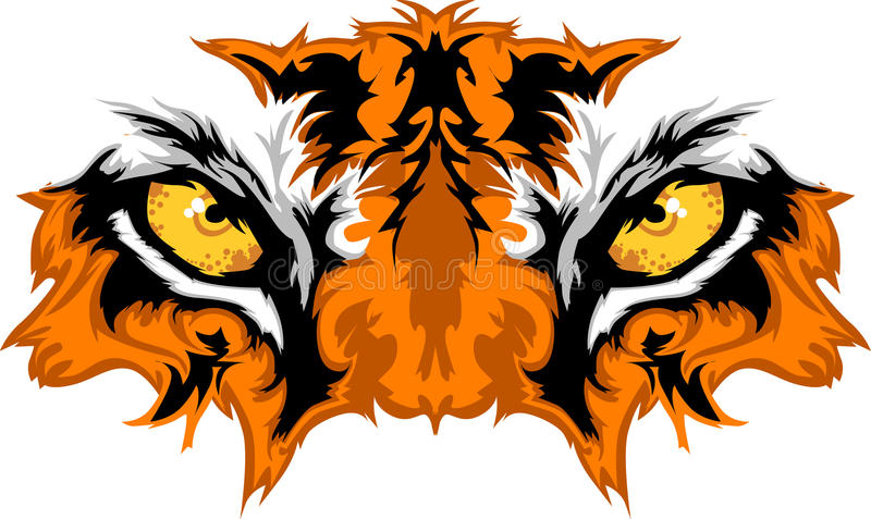 El tigre Eyes el gráfico de la mascota libre illustration