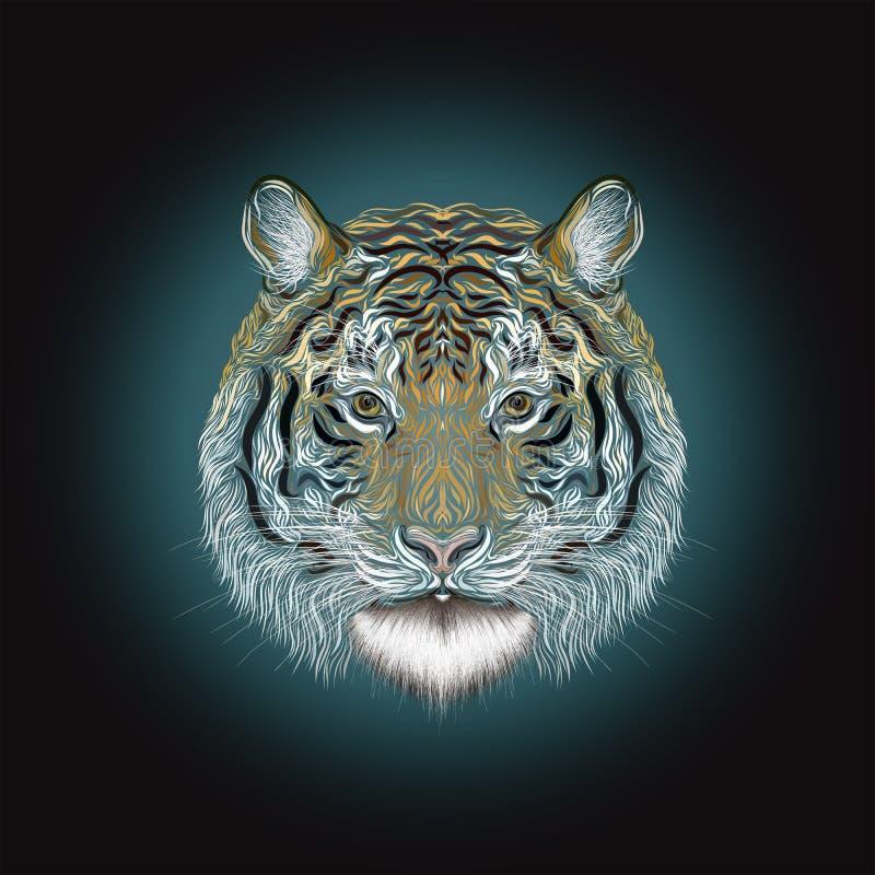 El tigre majestuoso stock de ilustración