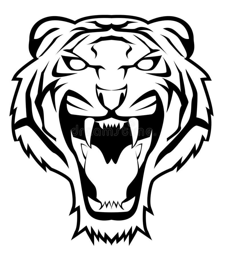El tigre salta ilustración del vector