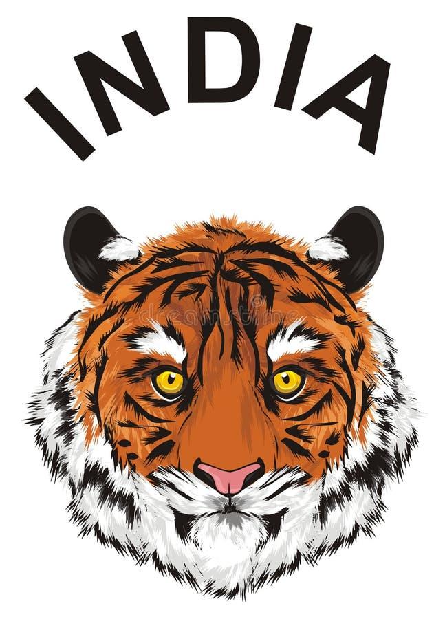 El tigre vive en la India stock de ilustración