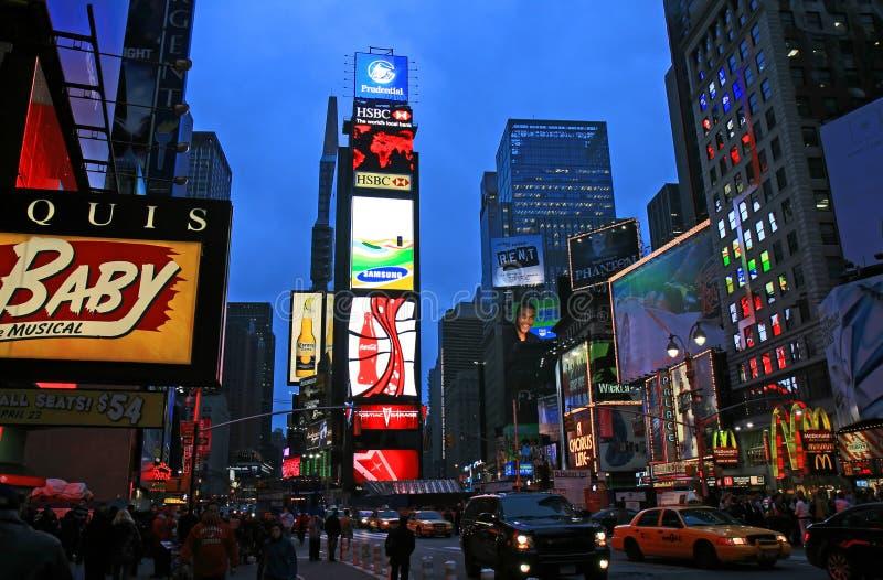 El Times Square fotos de archivo