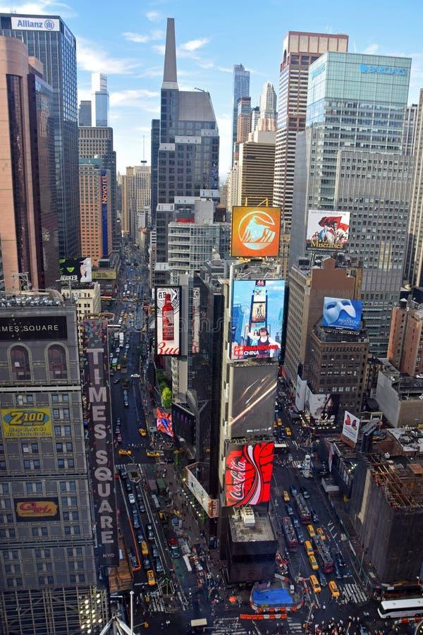 El Times Square de New York City desde arriba fotografía de archivo