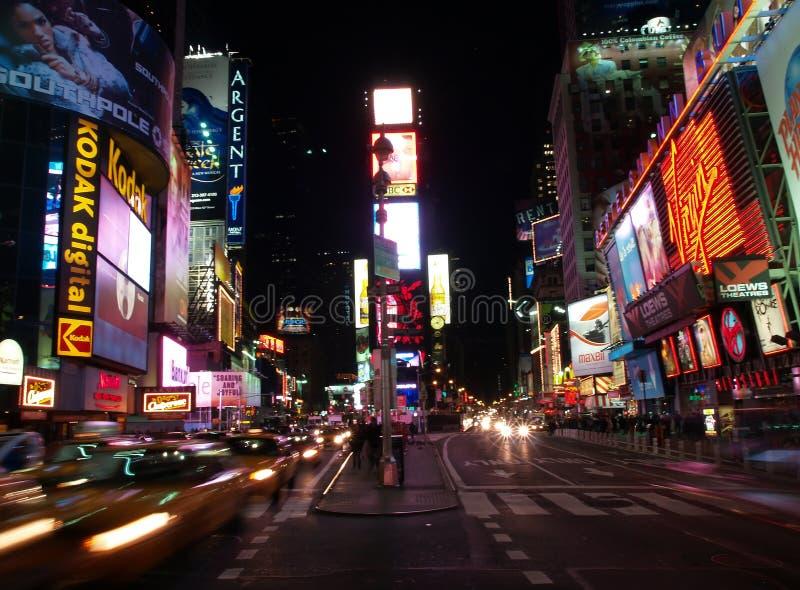 El Times Square en NYC fotografía de archivo