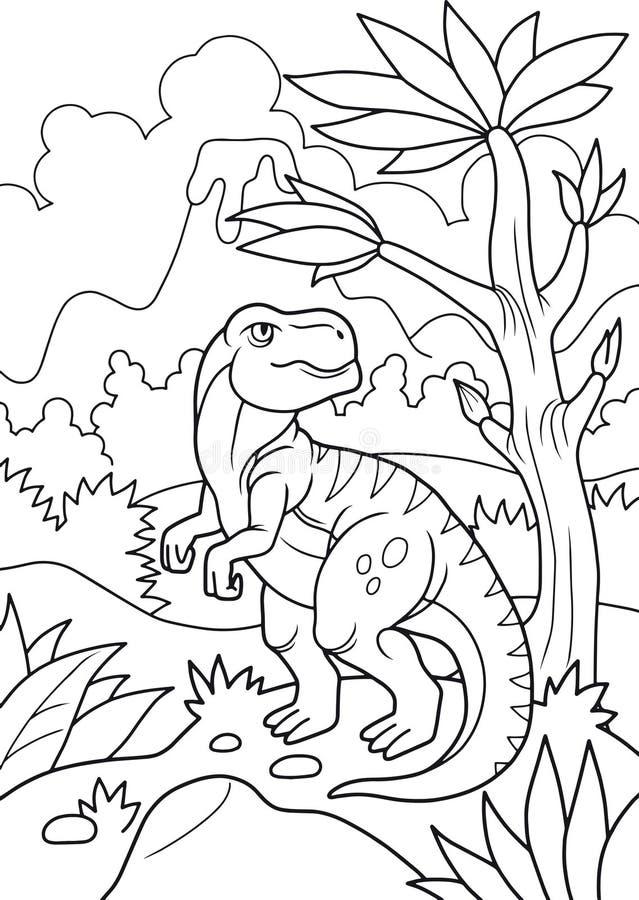 El tiranosaurio vaga en busca de presa ilustración del vector