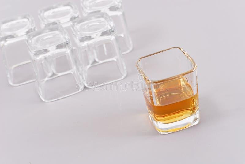 El tiro pasado del whisky imágenes de archivo libres de regalías