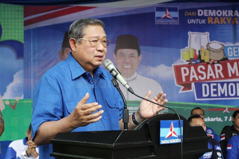 El 6to presidente de Indonesia Susilo Bambang Yudhoyono imagenes de archivo