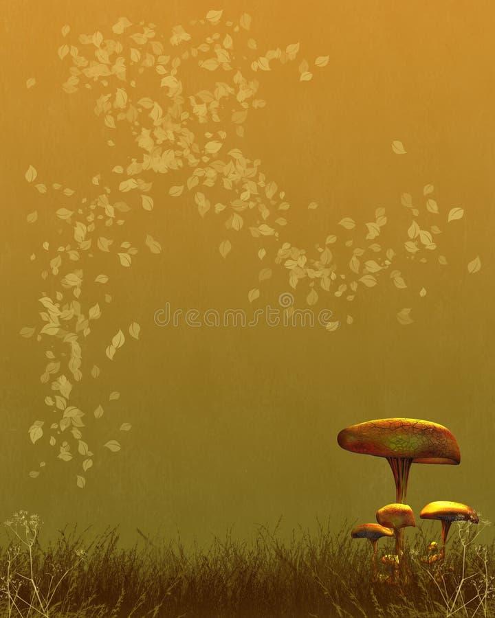 El Toadstool del otoño (caída) textured el documento de información libre illustration