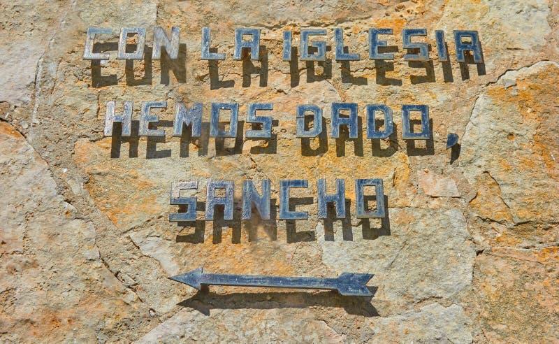 El Toboso zdanie Don Quijote powieść zdjęcie stock