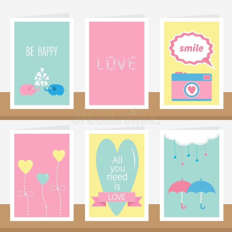 El ` todo lo que usted necesita es texto de la cita del ` del amor ilustración del vector