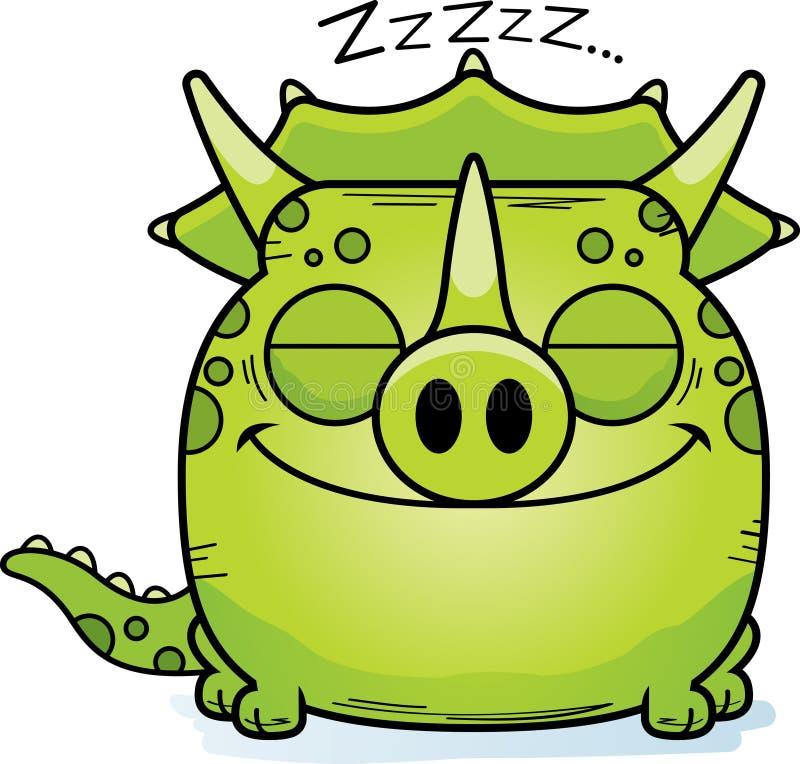 El tomar una siesta del Triceratops de la historieta libre illustration