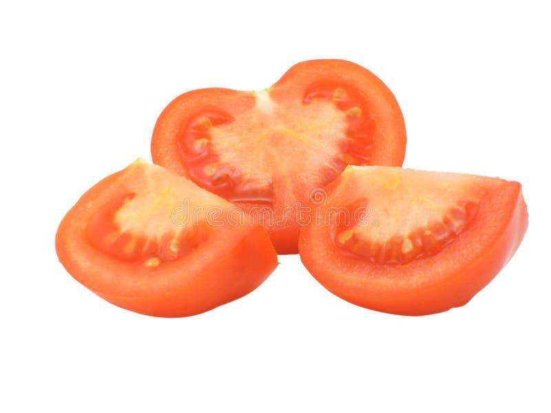 El tomate del corte fotografía de archivo libre de regalías