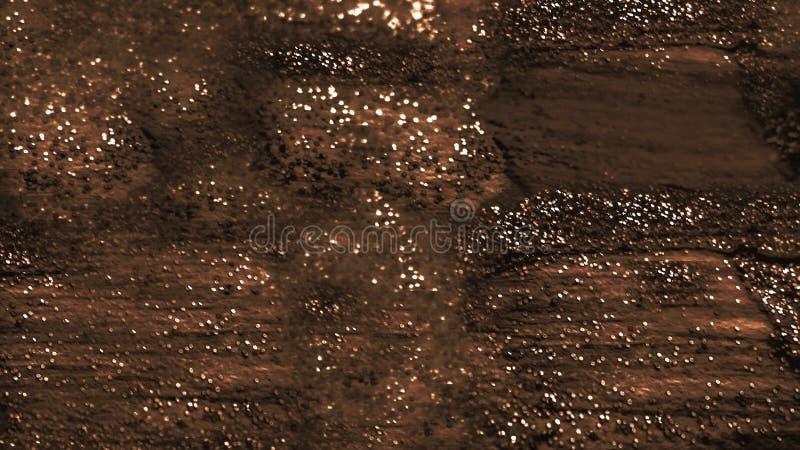 El tono brillante que brillaba intensamente dispersó brillo en superficie áspera Arte abstracto de los movimientos del cepillo Di foto de archivo libre de regalías