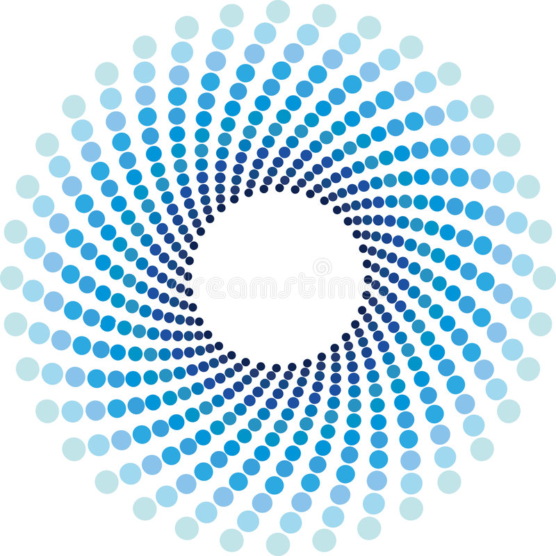 El tono medio azul circunda el fondo stock de ilustración