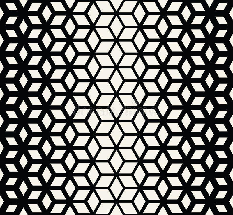 El tono medio blanco y negro de la rejilla de la geometría sagrada abstracta cubica el modelo libre illustration