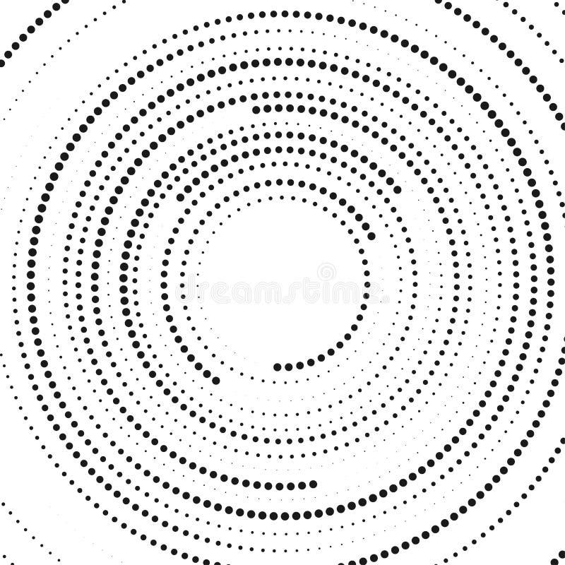El tono medio circular abstracto puntea la forma El panel solar y muestra para la energía alternativa Fondo de la ilustración del stock de ilustración