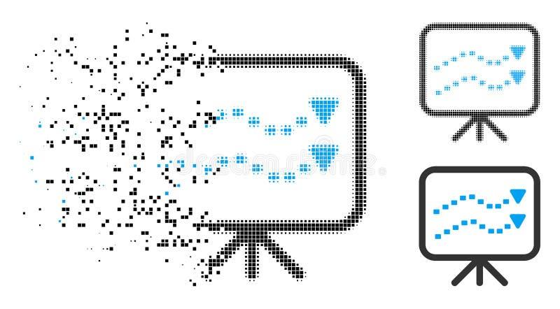 El tono medio de disolución de Pixelated punteado tiende el icono del tablero libre illustration
