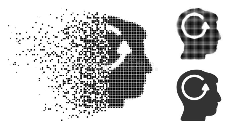 El tono medio hecho fragmentos de Pixelated restaura el icono principal de la memoria stock de ilustración
