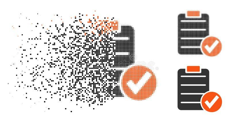 El tono medio punteado hecho fragmentos aplica el icono de la forma stock de ilustración