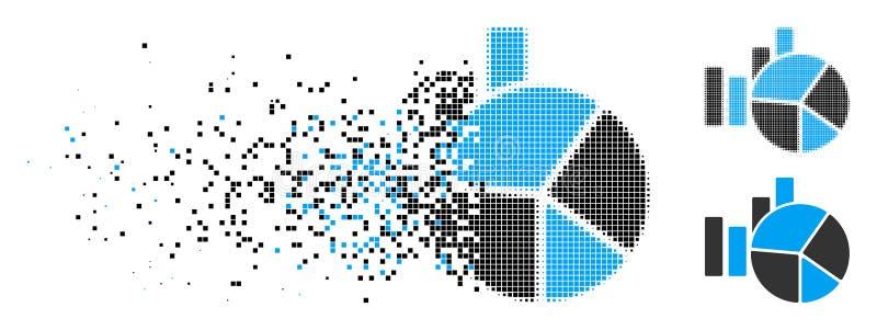 El tono medio punteado hecho fragmentos traza el icono stock de ilustración