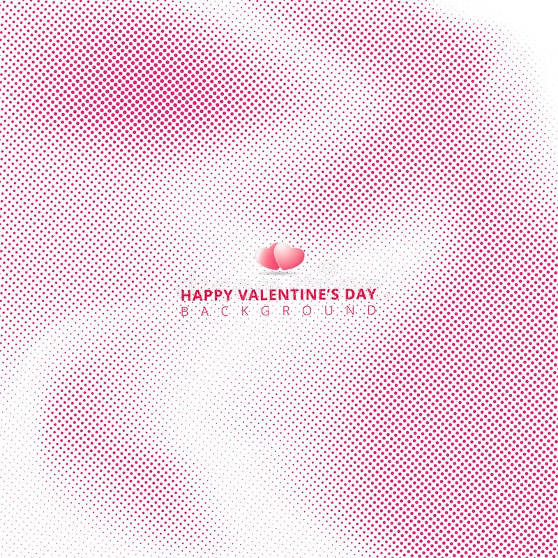 El tono medio rosado abstracto en el fondo blanco con los corazones para valen libre illustration