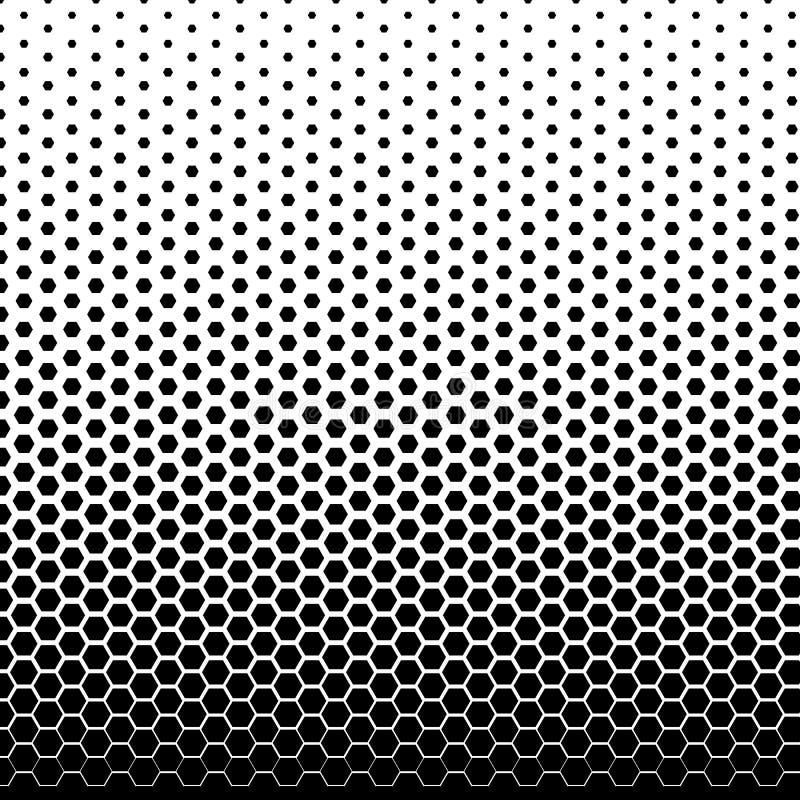 El tono medio se descolora el fondo de la pendiente Contexto c?mico blanco y negro Vector monocrom?tico de los puntos libre illustration