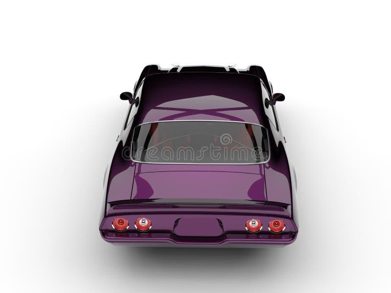 El top automotriz clásico americano del vintage hermoso púrpura oscuro metálico retrocede la visión ilustración del vector