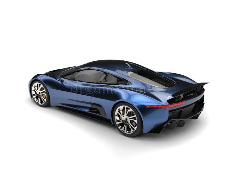 El top automotriz de los deportes elegantes azules metálicos hermosos retrocede la visión libre illustration