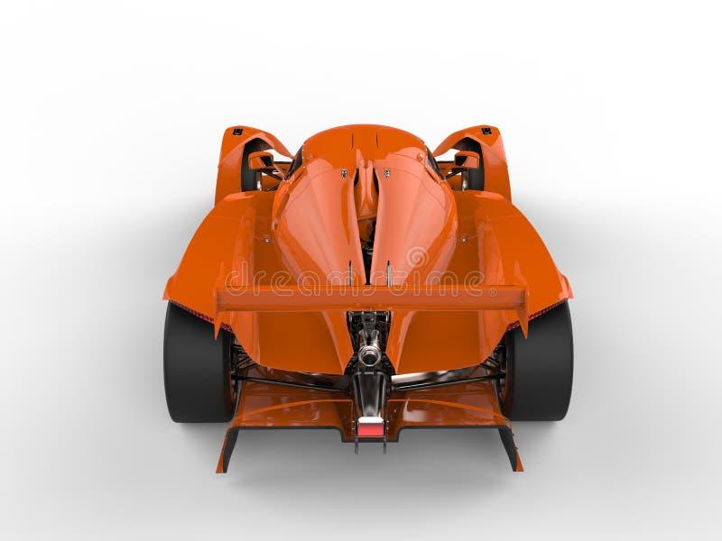El top automotriz de los deportes estupendos modernos anaranjados que fuma retrocede la visión libre illustration