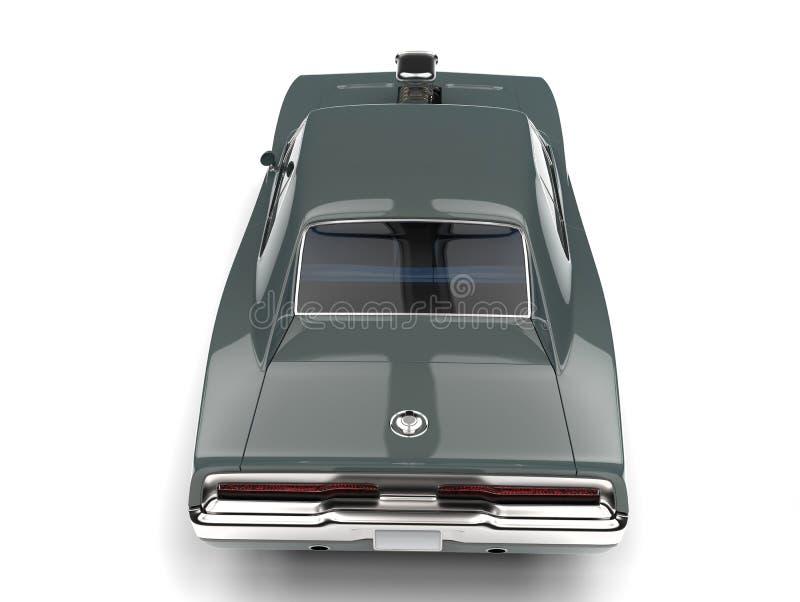 El top automotriz del músculo americano gris del vintage retrocede la visión libre illustration