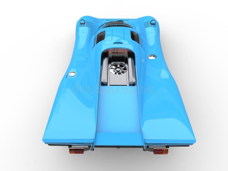 El top automotriz estupendo del vintage azul de Frost retrocede la visión stock de ilustración