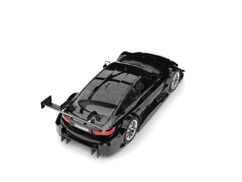 El top automotriz estupendo moderno negro imponente retrocede la visión ilustración del vector