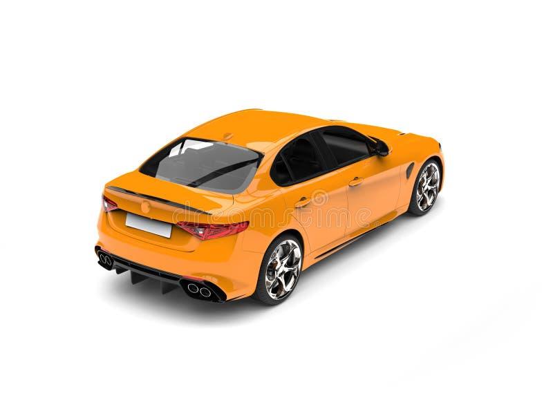 El top automotriz rápido moderno amarillo cibernético retrocede la visión stock de ilustración