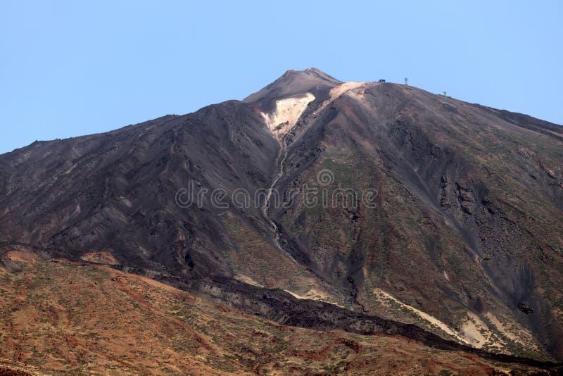 El top del volcán de Teide fotografía de archivo