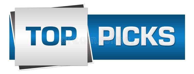 El top escoge a Grey Horizontal azul ilustración del vector