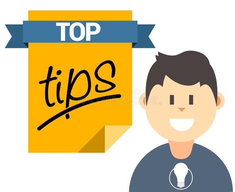 El top inclina el ejemplo con el usuario y el documento libre illustration