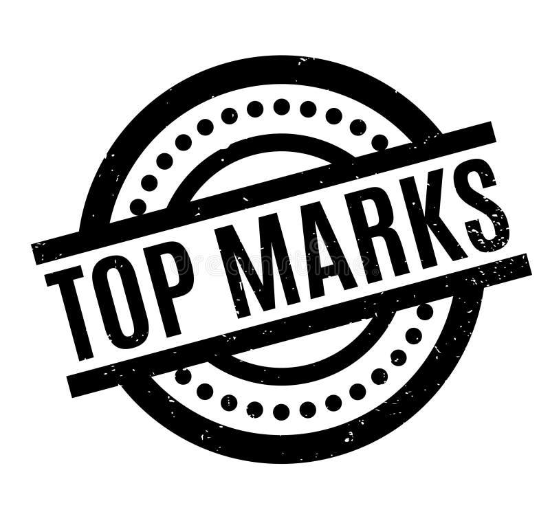 El top marca el sello de goma ilustración del vector